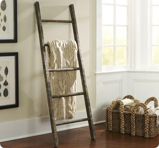 Rustic Blanket Ladder For 5
