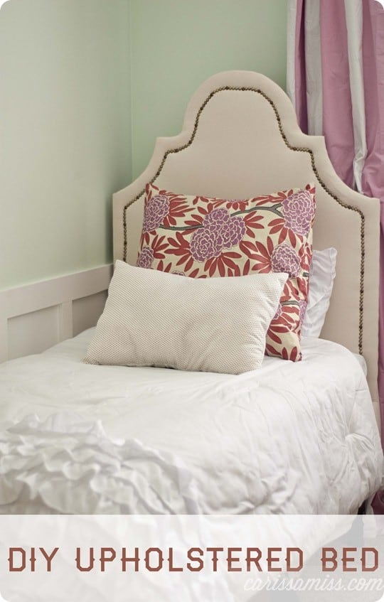 Upholstered Twin Bed For A Little Girl S Room