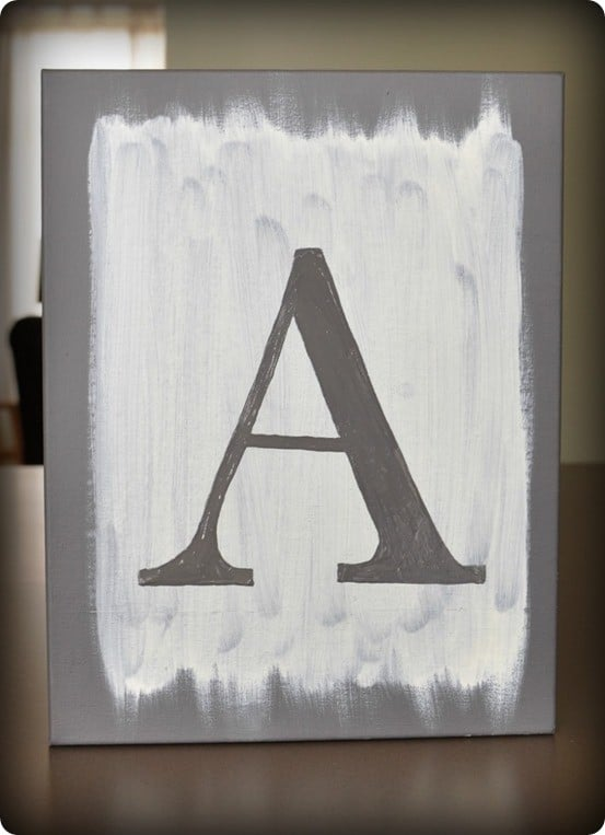 Painted Letter Canvas Art Knockoffdecor Com