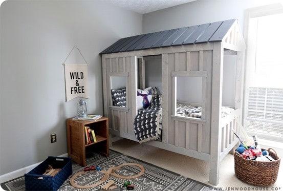 Rustic Cabin Kids Bed