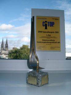 1. Platz beim deutschlandweiten ÖPNV-Innovationspreis 2003