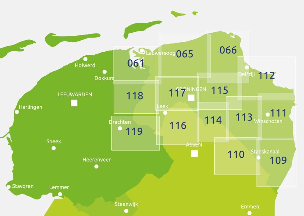 Zoekkaart Knooppuntkaart Groningen