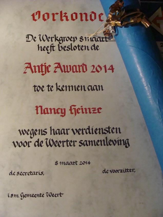 Antje Award 2014