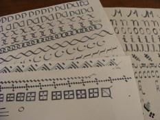 Sierranden oefenen - Practise decorated edges