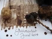 Voorbeeld met galnoteninkt - Example with gall-nut ink