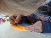 Kaartjes schrijven! Writing cards!