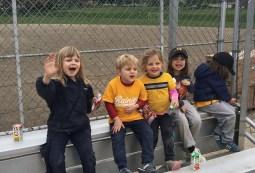 cousins enjoying after-game snack