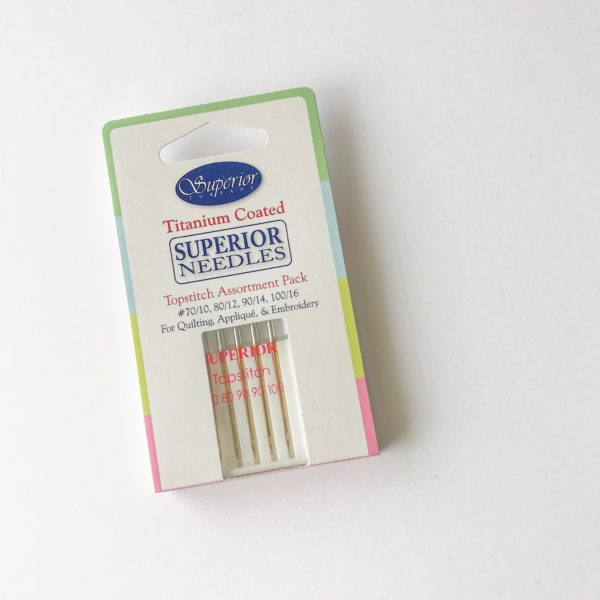 Superior Threads Titanium-Coated Needles, 90/14