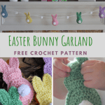 Crochet Easter Bunny Garland Free Pattern The Knotted Nest