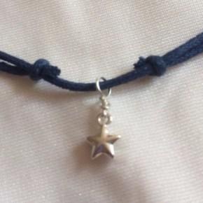 silver star choker necklace, adjustable know tutorial, DIY