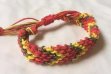 sunset hemp friendship bracelet