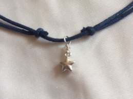 star charm choker necklace