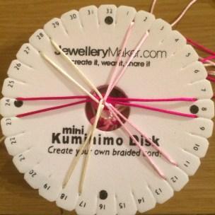 spiral kumihimo DIY 4
