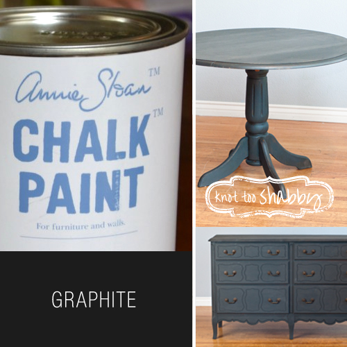 Graphite Chalk Paint Knot Too Shabby Furnishings