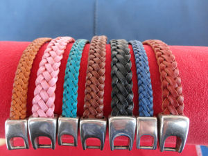 Snake Belly Braids in various colours and widths of kangaroo leather lace.