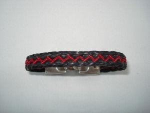 Zigzag Bracelet with seed beads.