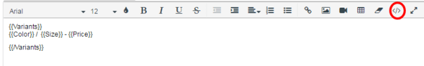 variant-html-edit