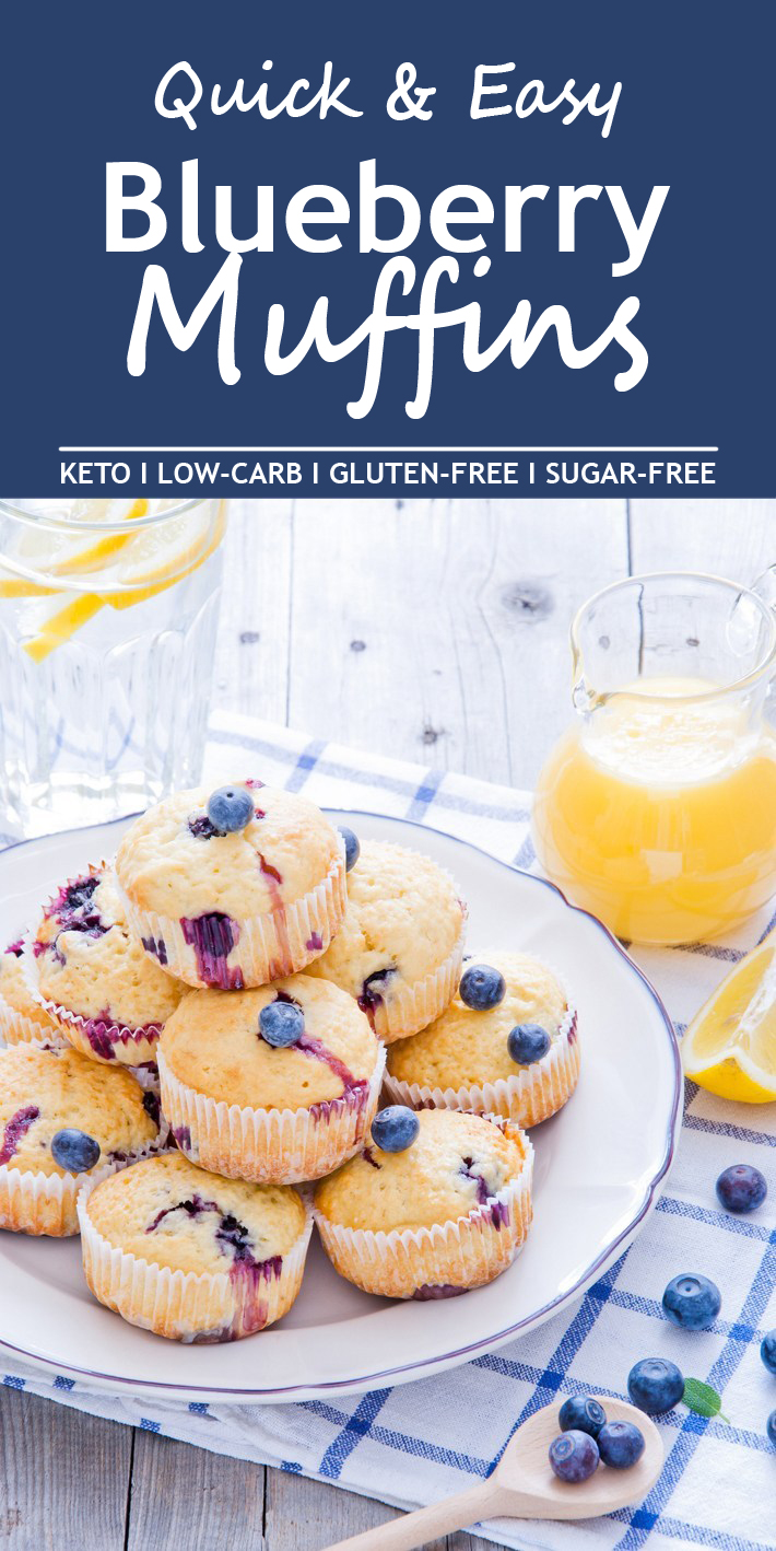 Quick & Easy Keto Blueberry Muffins