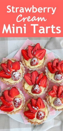 Strawberry Cream Mini Tarts