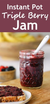 Instant Pot Triple Berry Jam