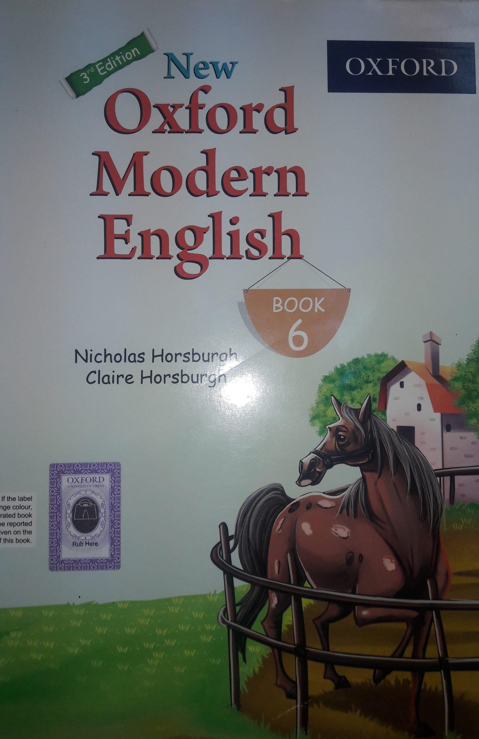 Notes New Oxford Modren English 6 By Nicholas Horsburgh