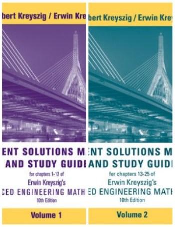 Advanced Engineering Mathematics 10th Edition Solutions Manual PDF  (Volume 1&2)
