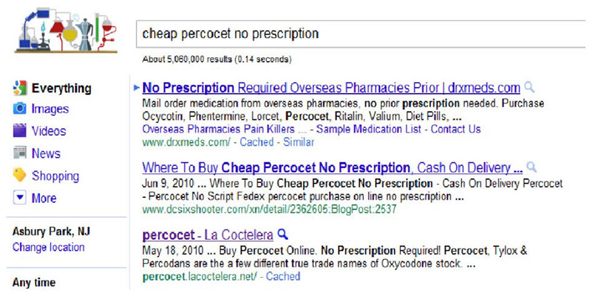 percocet ranking
