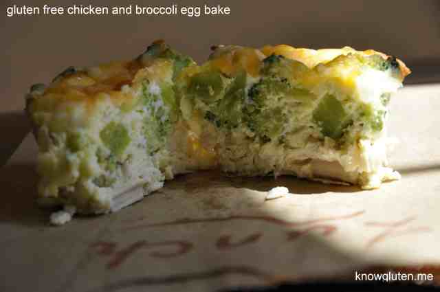 chicken and broccoli egg bake from know gluten