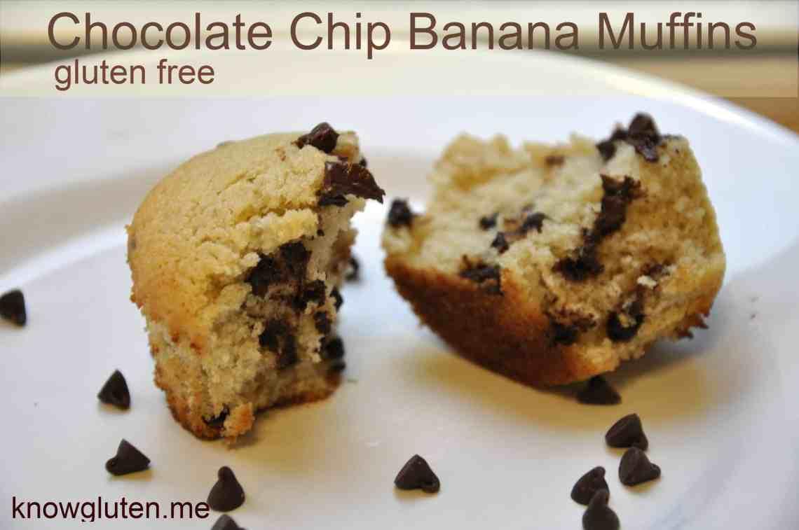 Chocolate Chip Banana Muffins - Gluten Free