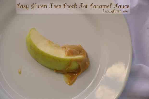 Easy gluten free crock pot caramel sauce