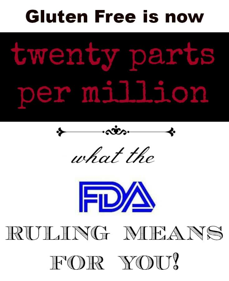 Gluten Free is now 20ppm, What the new FDA ruling means for you - from knowgluten.me