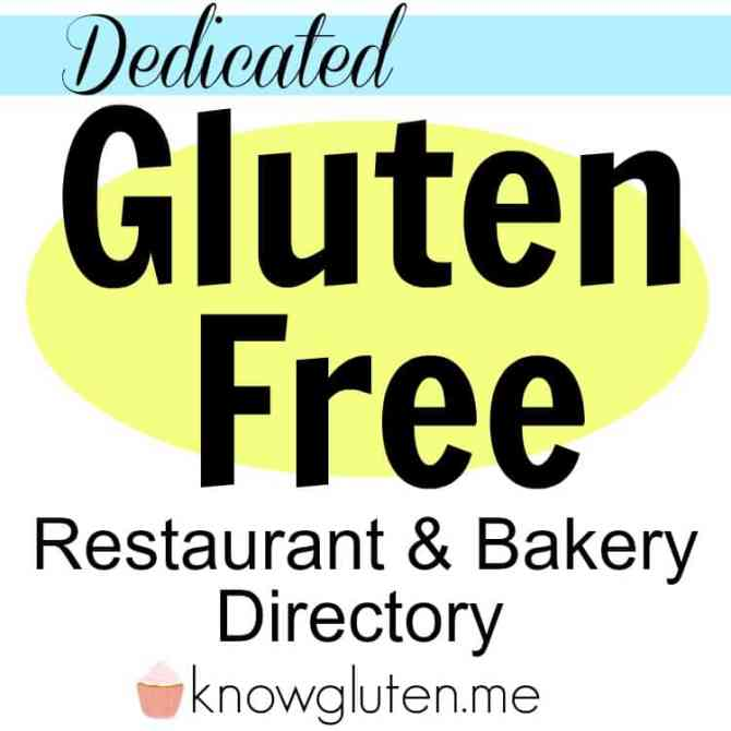 Dedicated Gluten Free Restaurant and Bakery Directory from knowgluten.me A list of 100 gluten free restaurants and bakeries
