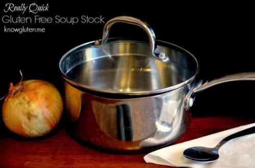 Really Quick Gluten Free Soup Stock from Knowgluten.me - Gluten Free, Vegan