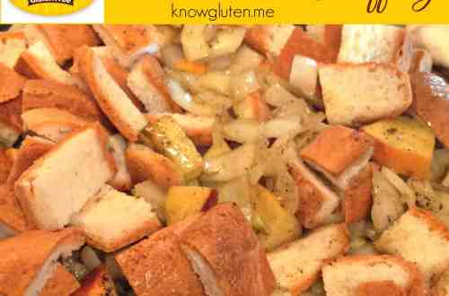 Udi's Gluten Free Bread-End Stuffing from knowgluten.me - perfect for Thanksgiving dinner!!