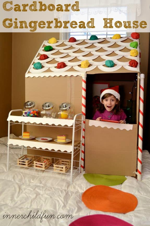 cardboard gingerbread house from inner child fun