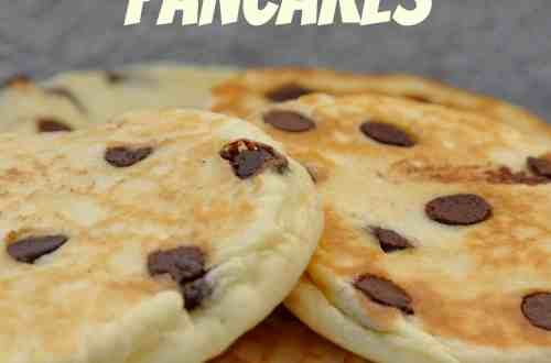 Gluten Free Chocolate Chip Pancakes made with knowgluten.me Thai Rice Flour Baking Mix
