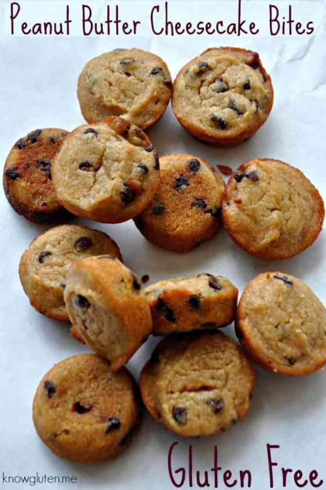 Gluten Free Peanut Butter Cheesecake Bites from knowgluten.me