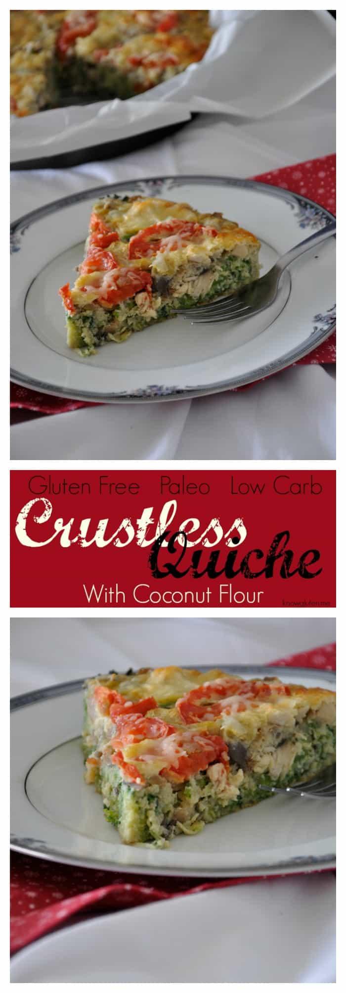 Gluten Free, Grain Free, Paleo Crustless Quiche