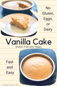 Gluten Free Vegan Vanilla Cake - No Eggs, No Dairy