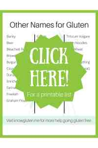 Click here for other names for gluten.