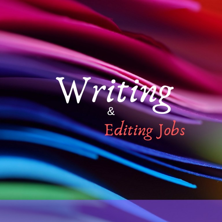 Editing and freelance writing jobs