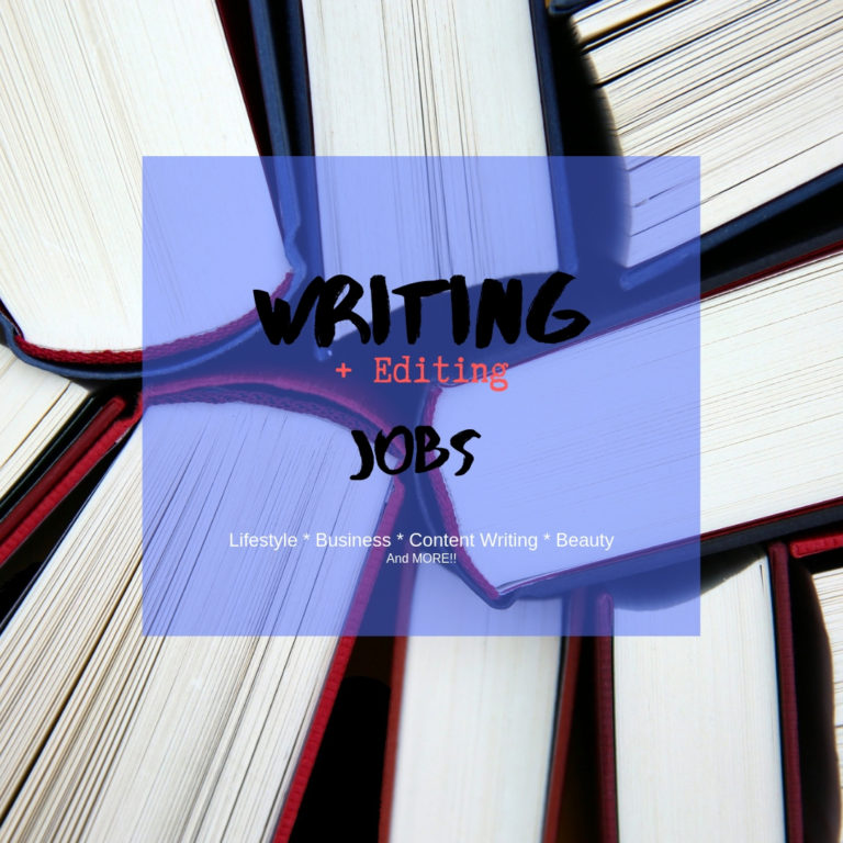 Freelance writing jobs and editing jobs