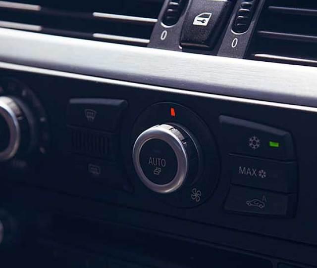 An Air Vent In A Car Dashboard