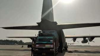 Relief aid for Cyclone Fani, IAF C130J Super Hercules