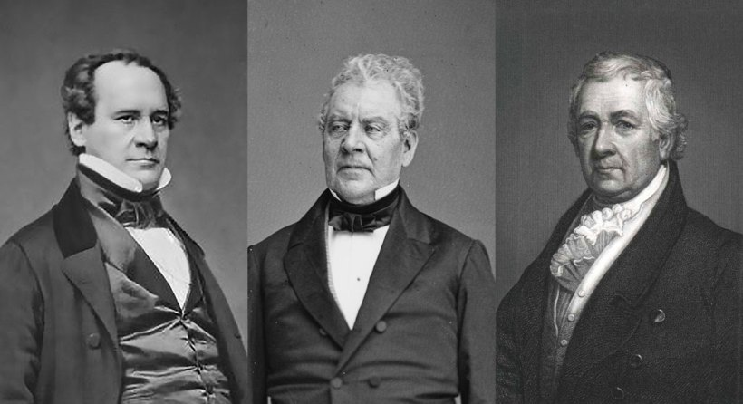 From left to right: Charles Anthon, Luther Bradish, Samuel Mitchell.