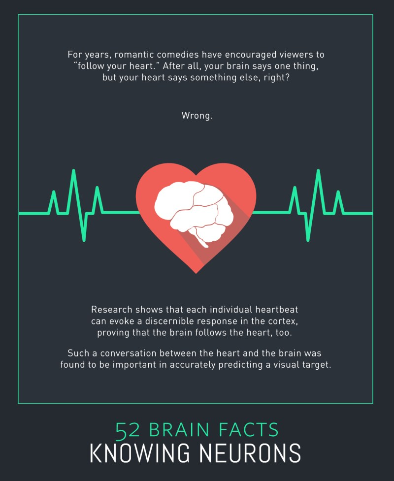 Myth or Fact? The brain doesn't listen to the heart.