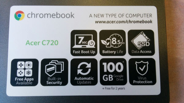 Acer C720 Chromebook セットアップ18