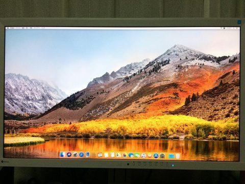 macOS High Sierra インストール 完了です