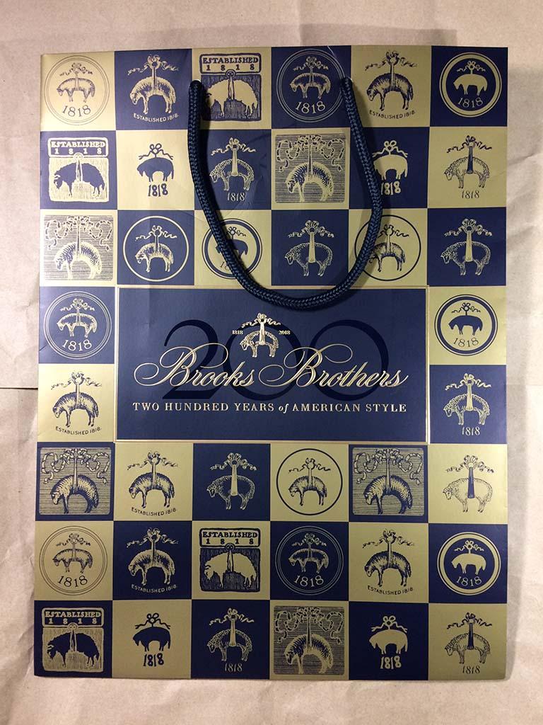 Brooks Brothers アドバンテージチノ 創立200周年バッグです
