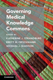 Governing Medical Knowledge Commons - cover